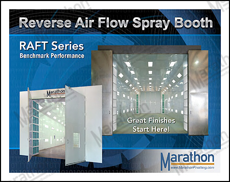 Truck & Equipment Reverse Air Flow Spray Paint Booths