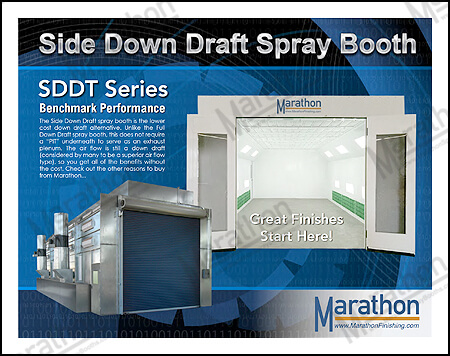 Truck & Equipment Side Down Draft Spray Paint Booths