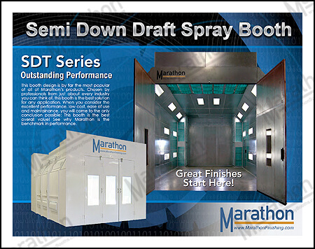 Truck & Equipment Semi Down Draft Spray Paint Booths
