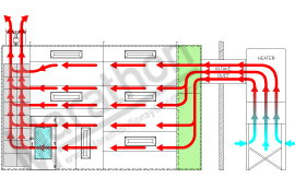 Heated Reverse Air Flow Diagram