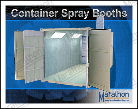 Transportable & Mobile Container Spray Paint Booths