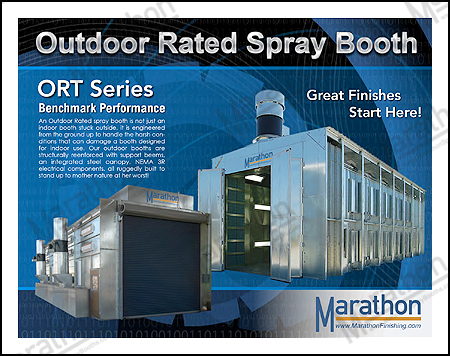 Outdoor Rated Automotive Spray Paint Booths