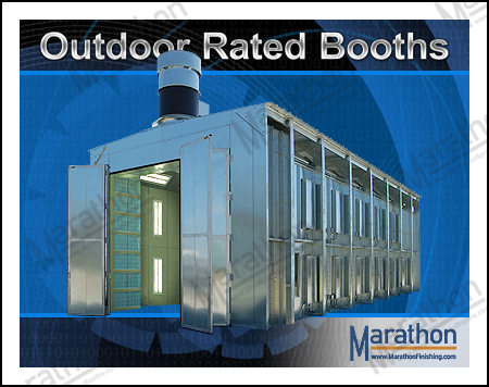 Outdoor Rated Spray Paint Booths