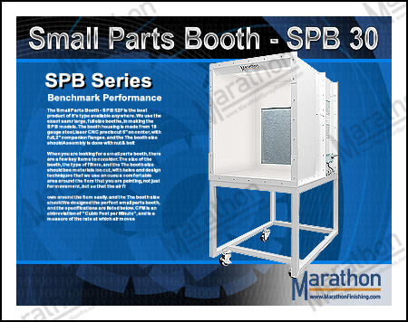 Small Parts Spray Paint Booth - SPB 30