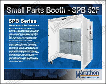 Small Parts Spray Paint Booth - SPB 52F