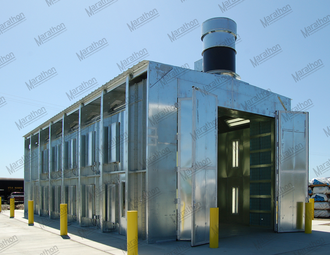 Outdoor Rated Automotive Paint Booths Marathon Finishing