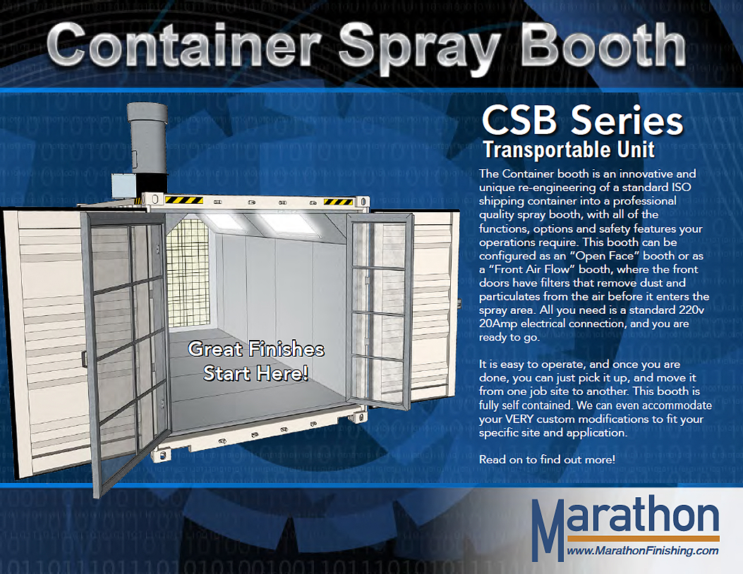 Transportable / Mobile Container Spray Paint Booth Slide Show